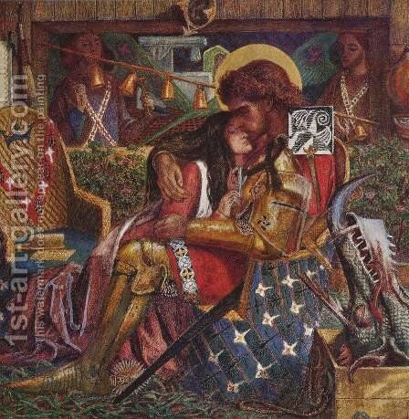The Wedding Of Saint George And The Princess Sabra by Dante Gabriel Rossetti - Reproduction Oil Painting