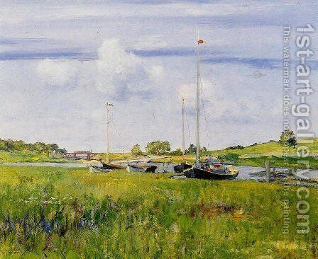 At The Boat Landing by William Merritt Chase - Reproduction Oil Painting
