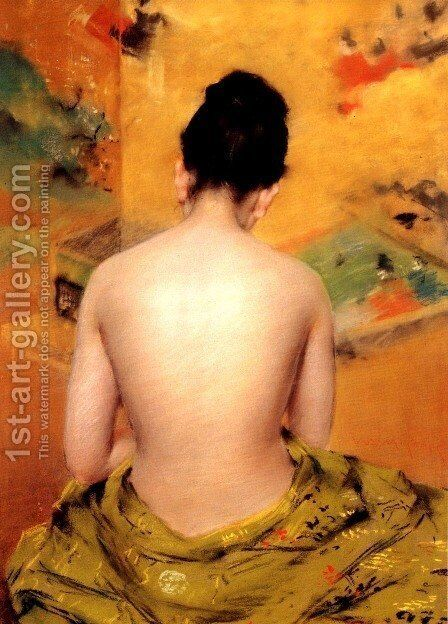 Back Of A Nude by William Merritt Chase - Reproduction Oil Painting