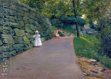 In The Park   A By Path by William Merritt Chase - Reproduction Oil Painting