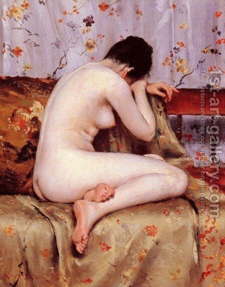 Modern Magdalen by William Merritt Chase - Reproduction Oil Painting