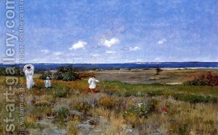 Near The Beach  Shinnecock by William Merritt Chase - Reproduction Oil Painting