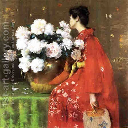 Peonies by William Merritt Chase - Reproduction Oil Painting
