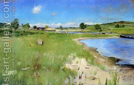 Shinnecock Hills From Canoe Place  Long Island by William Merritt Chase - Reproduction Oil Painting