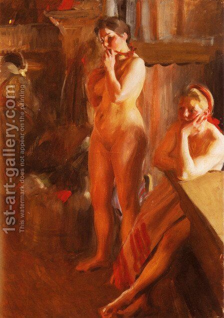 Eldsken by Anders Zorn - Reproduction Oil Painting