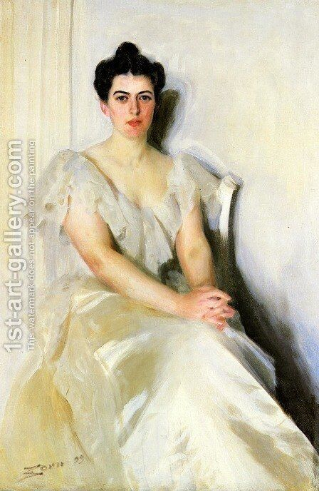 Frances Cleveland by Anders Zorn - Reproduction Oil Painting