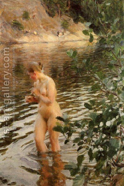 Frileuse by Anders Zorn - Reproduction Oil Painting