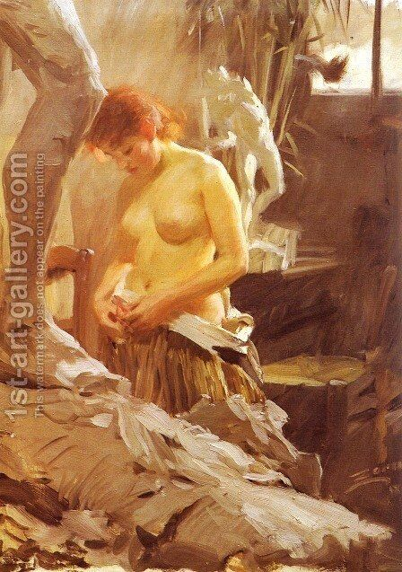 I Wikstroms Atelje by Anders Zorn - Reproduction Oil Painting