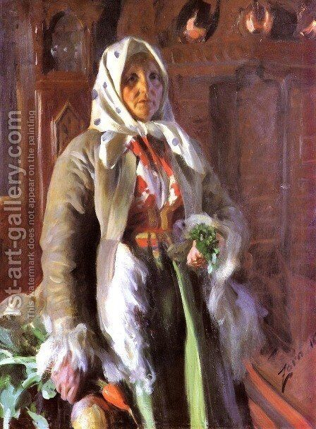 Mona by Anders Zorn - Reproduction Oil Painting