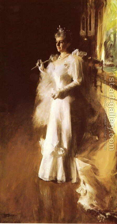 Mrs  Potter Palmer by Anders Zorn - Reproduction Oil Painting