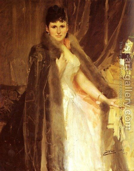 Mrs  Symons by Anders Zorn - Reproduction Oil Painting