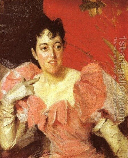 Mrs  Walter Bacon by Anders Zorn - Reproduction Oil Painting