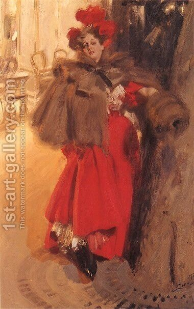 Natteffekt by Anders Zorn - Reproduction Oil Painting