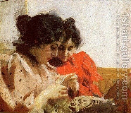 Spetssom by Anders Zorn - Reproduction Oil Painting