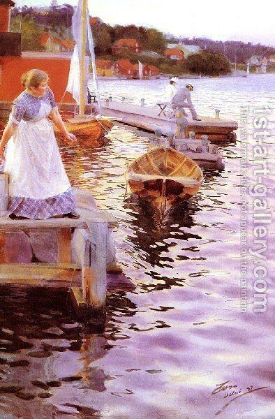 Vigskvalp by Anders Zorn - Reproduction Oil Painting