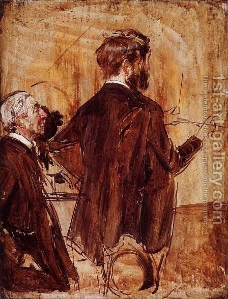 In The Studio by Giovanni Boldini - Reproduction Oil Painting