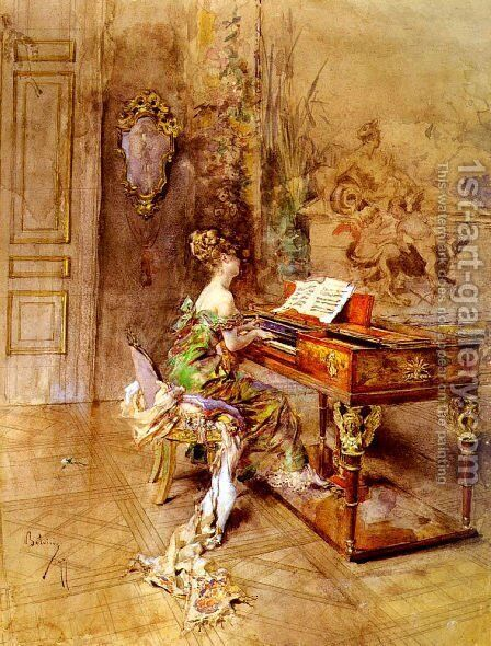 La Pianista by Giovanni Boldini - Reproduction Oil Painting