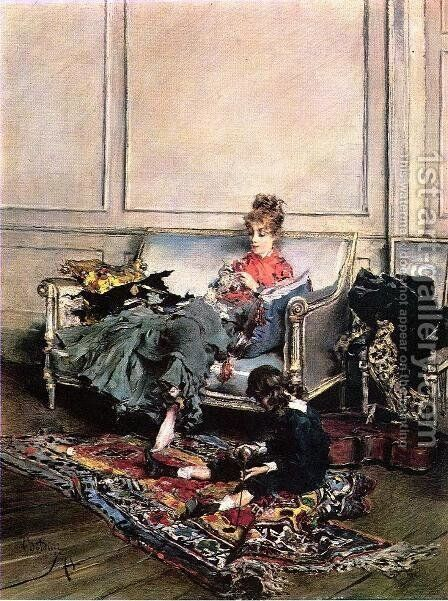 Peaceful Days by Giovanni Boldini - Reproduction Oil Painting
