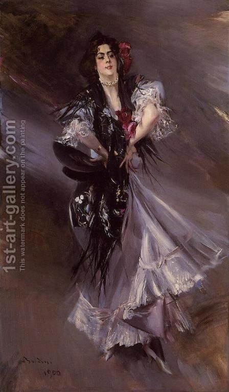 Portrait Of Anita De La Ferie  The Spanish Dancer by Giovanni Boldini - Reproduction Oil Painting