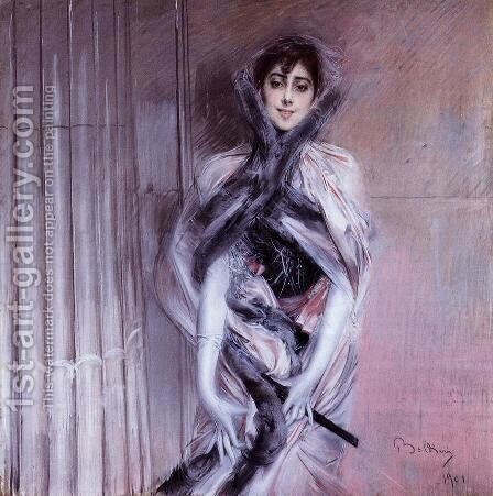 Portrait Of Emiliana Concha De Ossa by Giovanni Boldini - Reproduction Oil Painting