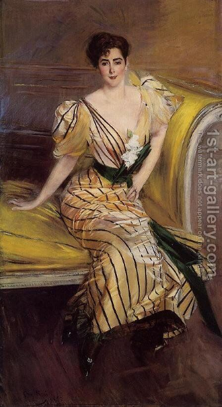 Portrait Of Madame Josephina Alvear De Errazuriz by Giovanni Boldini - Reproduction Oil Painting
