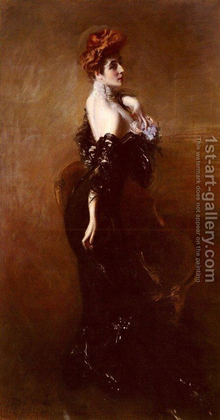 Portrait Of Madame Pages In Evening Dress by Giovanni Boldini - Reproduction Oil Painting