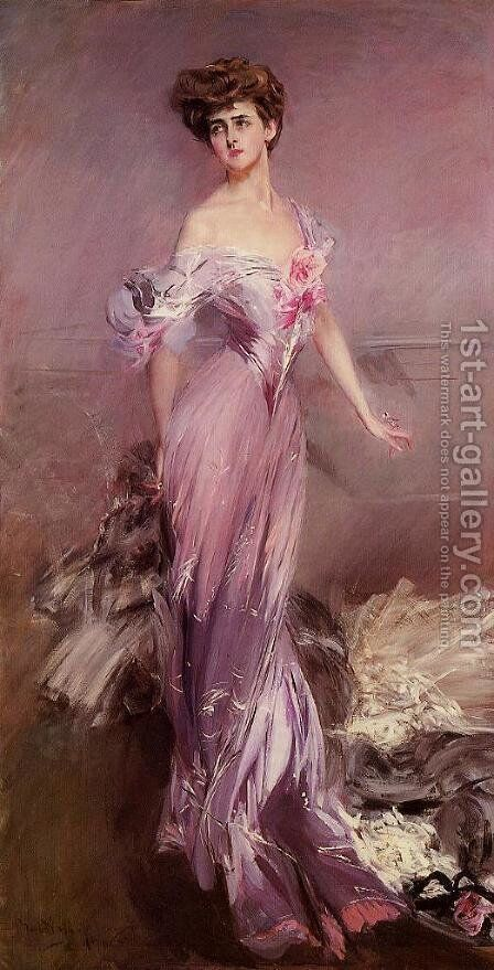 Portrait Of Mrs  Howard Johnston by Giovanni Boldini - Reproduction Oil Painting