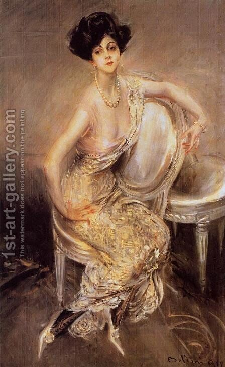 Portrait Of Rita De Acosta Lydig by Giovanni Boldini - Reproduction Oil Painting