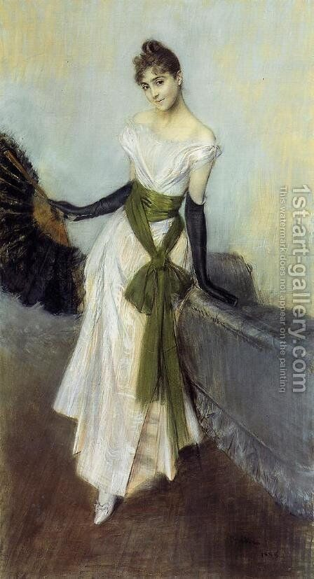 Portrait Of Signorina Concha De Ossa by Giovanni Boldini - Reproduction Oil Painting