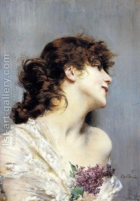 Profile Of A Young Woman by Giovanni Boldini - Reproduction Oil Painting