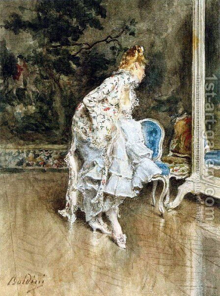 The Beauty Before The Mirror by Giovanni Boldini - Reproduction Oil Painting