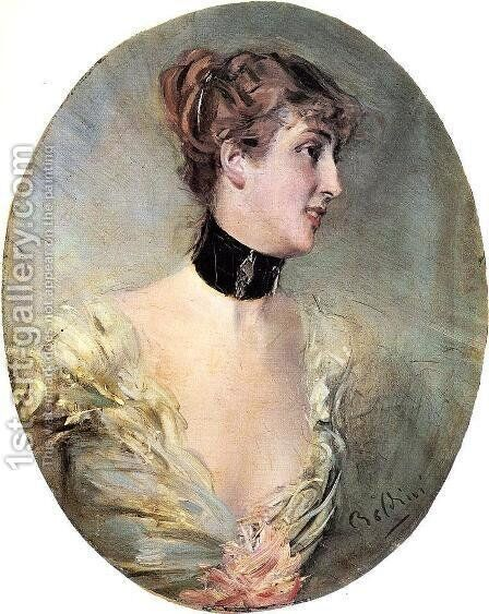 The Countess Ritzer by Giovanni Boldini - Reproduction Oil Painting