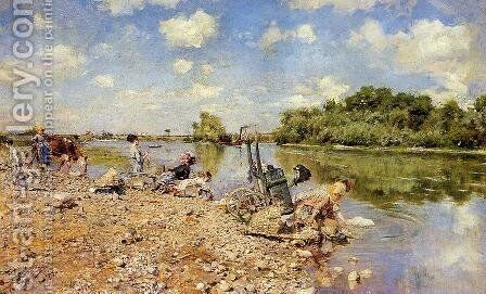The Laundry by Giovanni Boldini - Reproduction Oil Painting