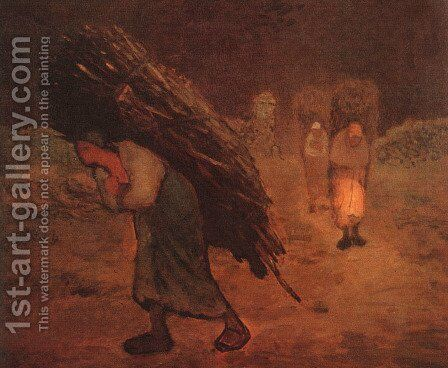 Faggot Carriers by Jean-Francois Millet - Reproduction Oil Painting