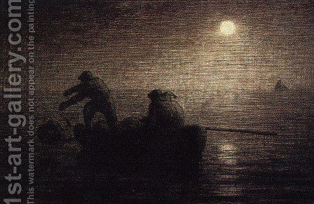 Fishermen by Jean-Francois Millet - Reproduction Oil Painting