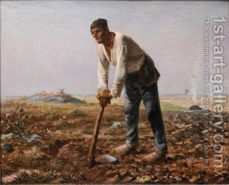 Man With A Hoe by Jean-Francois Millet - Reproduction Oil Painting