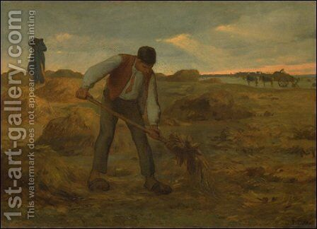 Peasand Spreading Manure by Jean-Francois Millet - Reproduction Oil Painting