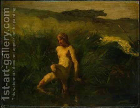 The Bather by Jean-Francois Millet - Reproduction Oil Painting