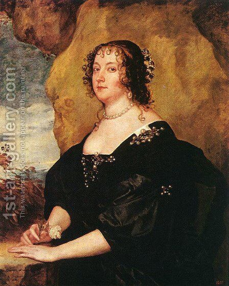 Diana Cecil, Countess of Oxford 1638 by Sir Anthony Van Dyck - Reproduction Oil Painting