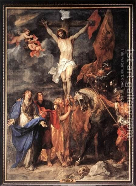 Golgotha 1630 by Sir Anthony Van Dyck - Reproduction Oil Painting