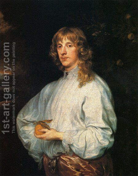 James Stuart  Duke Of Richmond And Lennox With His Attributes by Sir Anthony Van Dyck - Reproduction Oil Painting