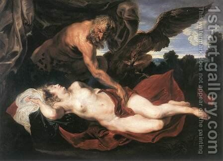 Jupiter and Antiope by Sir Anthony Van Dyck - Reproduction Oil Painting