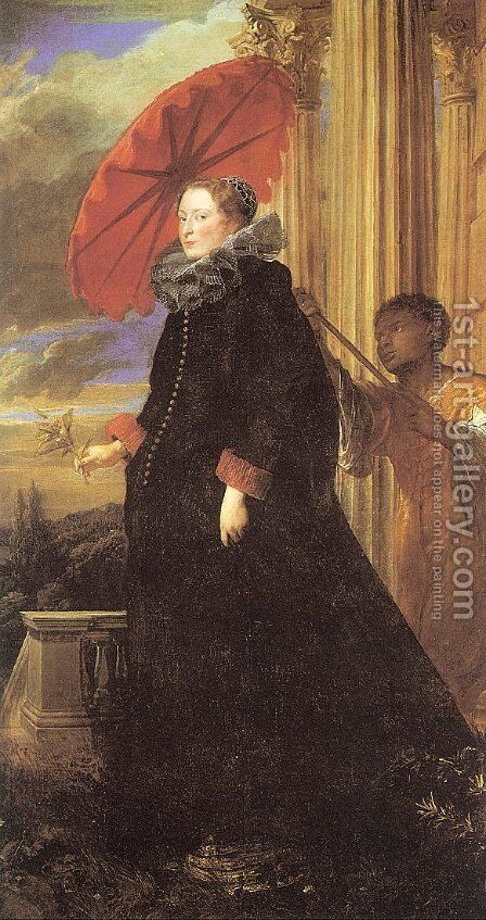 Marchesa Elena Grimaldi by Sir Anthony Van Dyck - Reproduction Oil Painting
