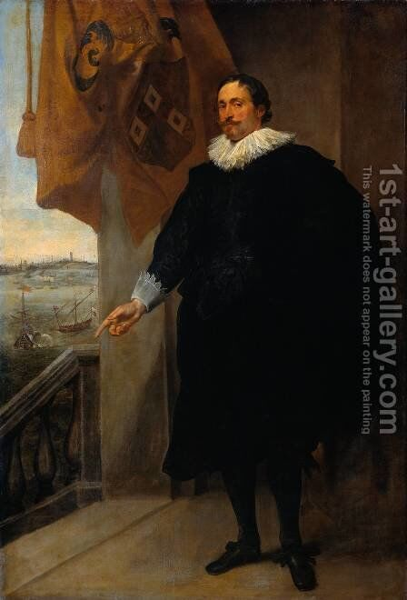 Nicolaes Van Der Borght  Merchant Of Antwerp by Sir Anthony Van Dyck - Reproduction Oil Painting