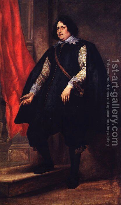 Portrait Of A Gentleman by Sir Anthony Van Dyck - Reproduction Oil Painting