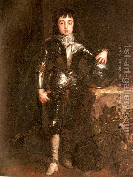 Portrait Of Charles II When Prince Of Wales by Sir Anthony Van Dyck - Reproduction Oil Painting