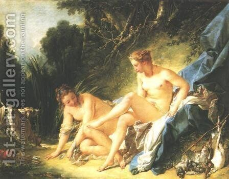Diana Resting after her Bath 1742 by François Boucher - Reproduction Oil Painting