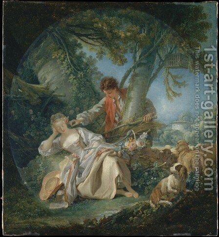 The Interrupted Sleep 1750 by François Boucher - Reproduction Oil Painting