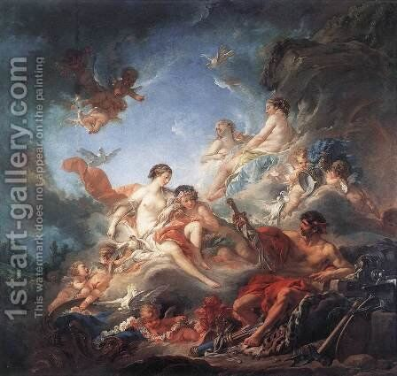 Vulcan Presenting Venus with Arms for Aeneas 1757 by François Boucher - Reproduction Oil Painting