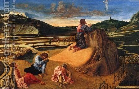 Agony in the Garden c. 1465 by Giovanni Bellini - Reproduction Oil Painting